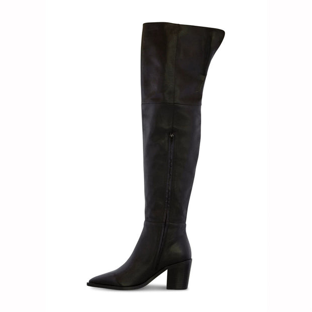 Women's Vintage Pointed Thick Boots