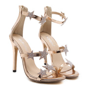 Elegant Star Decoration Rhinestone Sandals Shoes