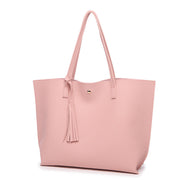 PU Large Capacity Tassel Hand Shoulder Bag