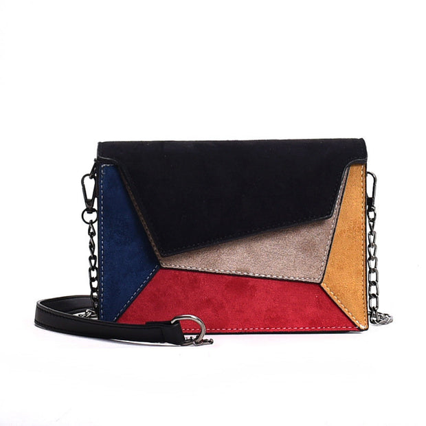 Women Stitching Color Crossbody Bag