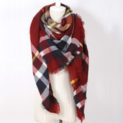 Winter Colored Plaid Scarf Shawl