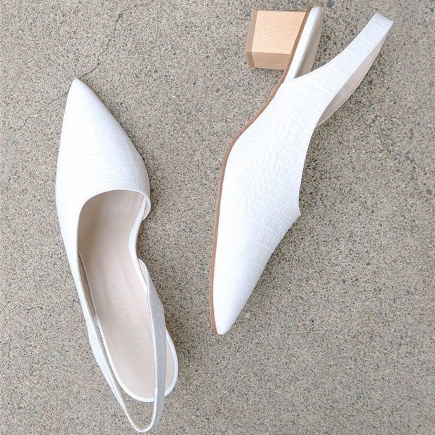Thick Heel With Pointed Large Size Sandals