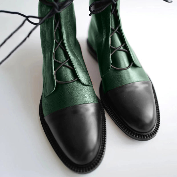 【50% OFF Today!!Original Price $99.99】comfortable flat bottom locomotive leather boots