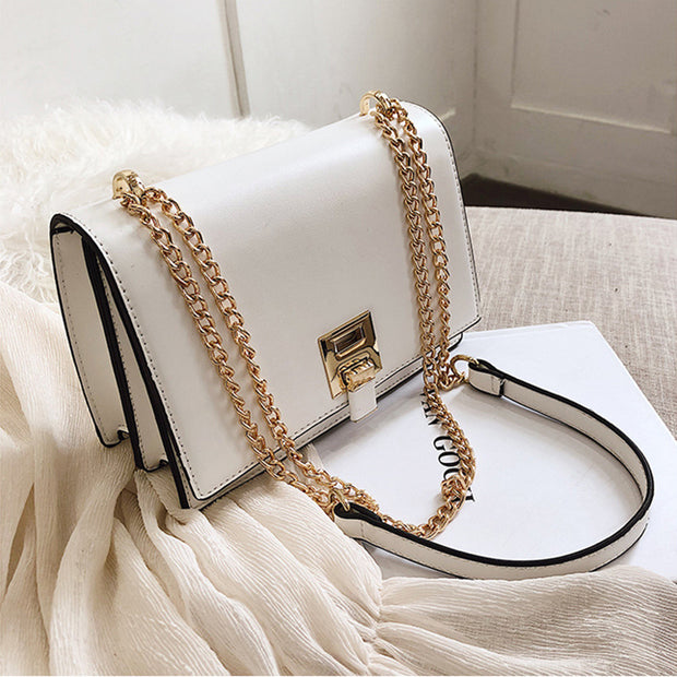 Women's simple casual slung texture small square bag