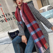 Striped Plaid Knitting Scarf