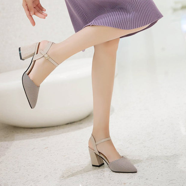 Pointed Toe Hollow Slingback Heels