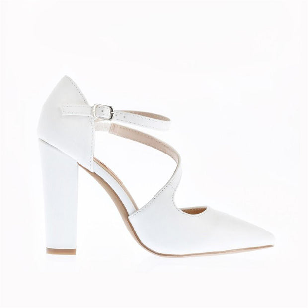 High heel buckle hollow single shoes