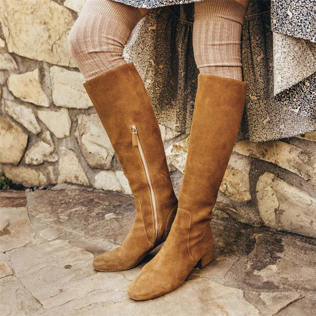 Fashion suede high boots