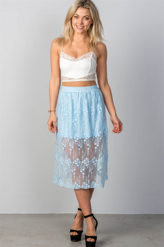 boho lace midi skirt - The Chic Woman