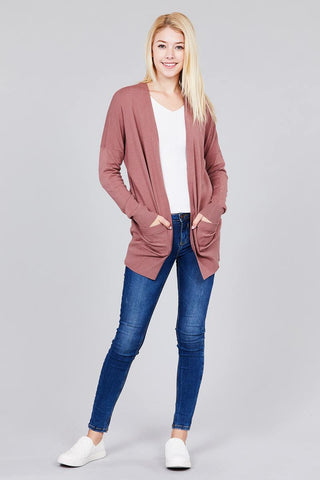 Dolman Sleeve Sweater Cardigan - The Chic Woman