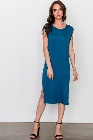Side split long tunic top - The Chic Woman