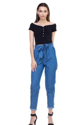 Chambray Denim Pants