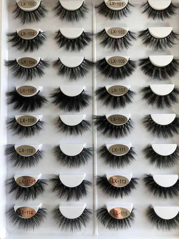 Wholesale 3D Soft Mink Eyelashes Handmade Lash Strip Cruelty Free Mink lash(16mm-20mm)