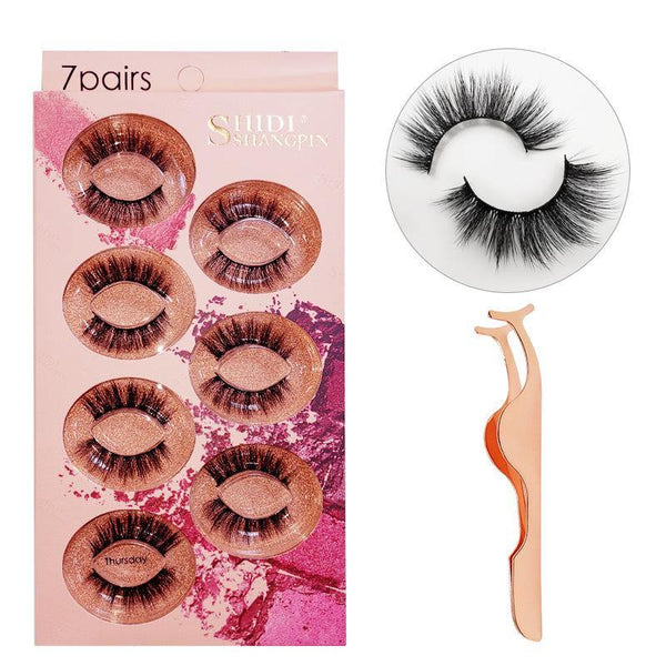 Faux Mink Lashes Fluffy Volume Eyelashes 3D Multi-layered Effect Dramatic Look Reusable False Eyelash 7 Pair Pack - omgbeautyhair