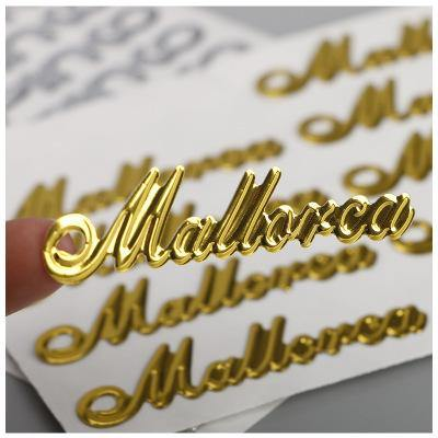 Custom Metal Logo Stickers Gold Tags Lash Logo Paster