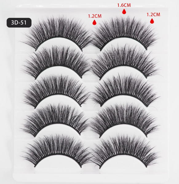 3D Mink Lashes 5 Pairs