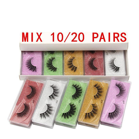 3D Faux Mink Eyelashes Faux Mink Lashes Lashvendors (mix color and styles )