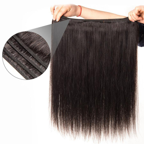 3Pcs Lot Straight Human Hair Weave Brazilian Virgin Hair Bundles Human Hair Bundles - omgbeautyhair