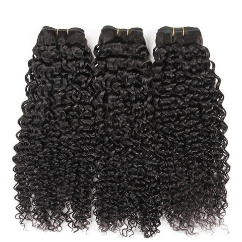 Kinky Curly Human Hair Weave Brazilian Human Hair Bundles Hair Extensions - omgbeautyhair