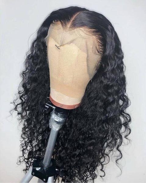 Amazing Curly Human Hair Wigs Free Part Full Ends Brazilian Virgin Hair Wigs - omgbeautyhair
