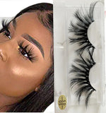 100% 5D Mink Eyelashes 25mm Wispy Fluffy Fake Lashes (5D05)