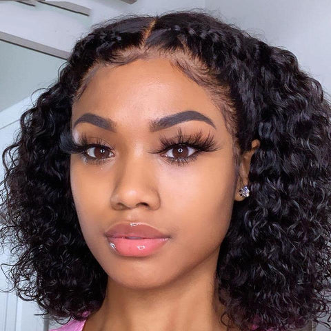Short Curly Human Hair Wig Brazilian Virgin Human Hair Wigs Short Natural Hair Wigs - omgbeautyhair