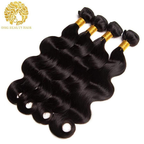 3/4Pcs Lot Body Wave Human Hair Weave Malaysian Virgin Hair Bundles Human Hair Bundles - omgbeautyhair