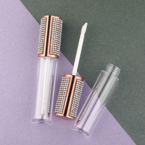 10 PCS Round Lip Gloss Tube High Grade Clear Plastic Lip Gloss Containers Filling Bottle Cosmetic Packaging Container