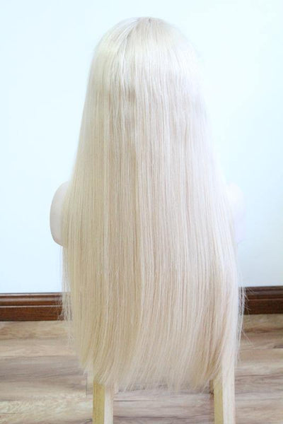 #60 Color Platinum Blonde Human Hair For Black Girls Brazilian Virgin Hair Soft Sleek Amazing Color - omgbeautyhair