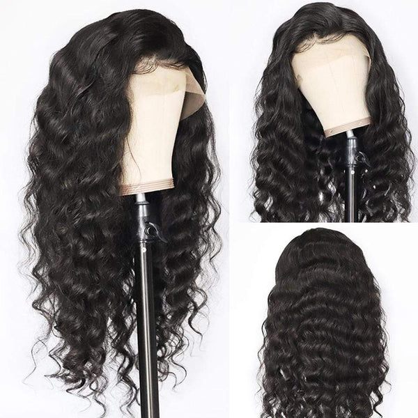 Deep Wave Lace Front Human Hair Wigs With Baby Hair Pre Plucked Bleached Knots - omgbeautyhair