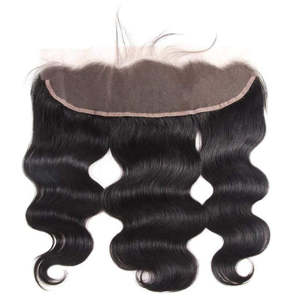 Malaysian Natural Color 3/4 Pcs Bundles With 13×4 Lace Frontal Body Wave Human Hair - omgbeautyhair