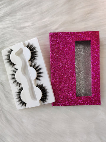 3 Pairs Natural Mink Eyelashes with Colorful Box