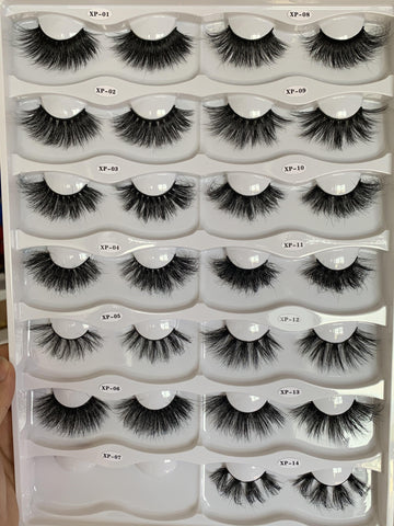 New Arrival Fluffy Long Mink Lash (20mm-25mm) Wholesale Eyelash Vendors Factory Price