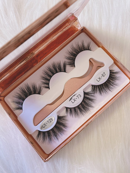 3 Pairs Lash Book Collection Very Soft Lashes with Very Good Quality