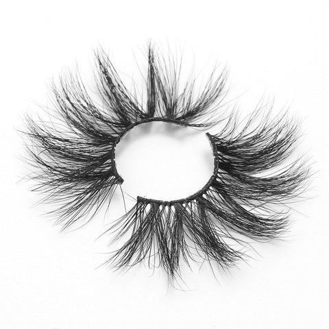 100% 5D Mink Eyelashes 25mm Wispy Fluffy Fake Lashes (LXPLUS35)