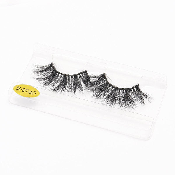 100% 5D Mink Eyelashes 25mm Wispy Fluffy Fake Lashes (LXPLUS39) - omgbeautylash