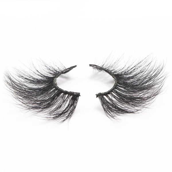 100% 5D Mink Eyelashes 25mm Wispy Fluffy Fake Lashes (LXPLUS39)