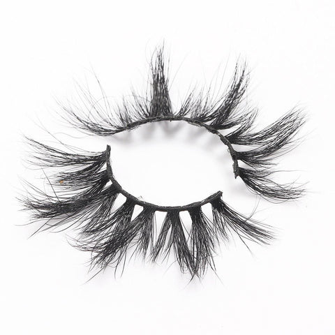 100% 5D Mink Eyelashes 25mm Wispy Fluffy Fake Lashes (LXPLUS43)