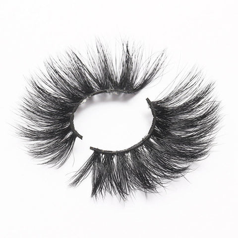 100% 5D Mink Eyelashes 25mm Wispy Fluffy Fake Lashes (LXPLUS46)