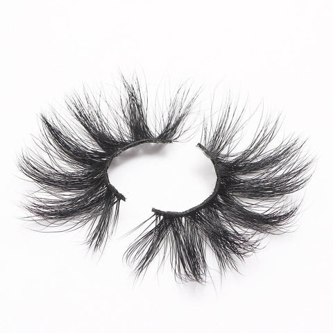 100% 5D Mink Eyelashes 25mm Wispy Fluffy Fake Lashes (LXPLUS60)