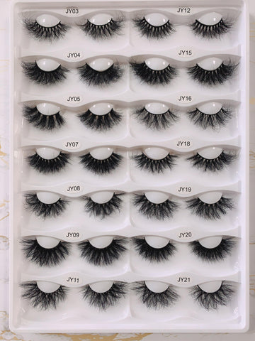 New Arrival Wholesale 8D Mink Eyelashes Very Fluffty 25mm - omgbeautylash