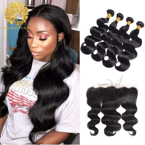 Malaysian Hair Bundles With Clsoure/Frontal