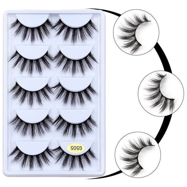 3D Mink Lashes 10 Pairs with One Tweezer