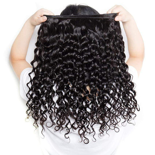 3/4Pcs Lot Water Wave Human Hair Weave Brazilian 100% Human Hair Bundles Hair Weave - omgbeautyhair