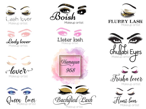 Custom Lash Logo Private Label Print or Stickers Custom Logo As Your Request