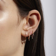 Trinket Hoops - Red and Pink