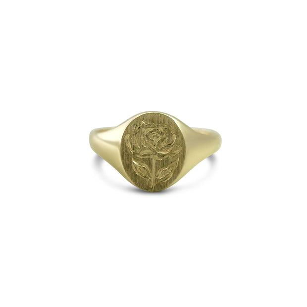 Rose Oval Signet Ring