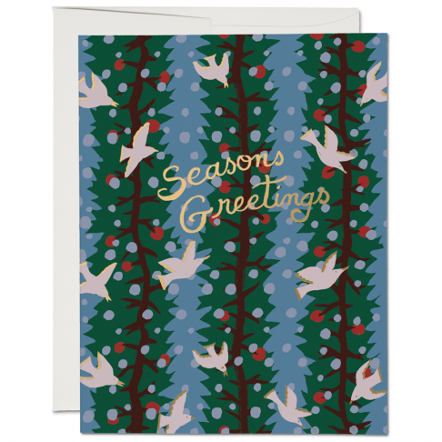 Seasons Greetings Doves Card