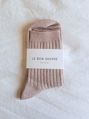 Le Bon Shoppe Her Socks - Rose Glitter