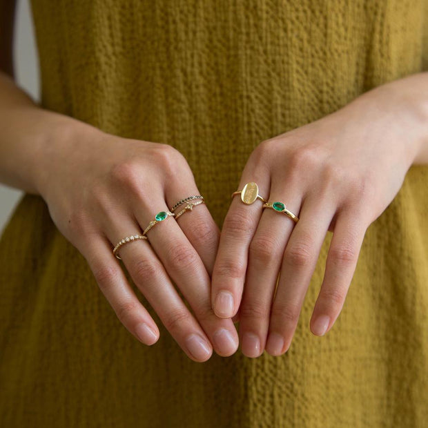 Emerald Chubby Ring